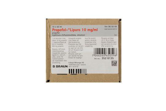 Propofol-Lipuro Injektionsvätska/infusionsvätska, emulsion 10 mg/ml Propofol 10 x 50 milliliter