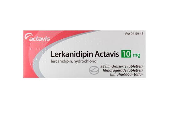 Lerkanidipin Actavis Filmdragerad tablett 10 mg Lerkanidipin 98 styck