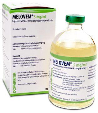 Melovem Injektionsvätska, lösning 5 mg/ml 100 milliliter