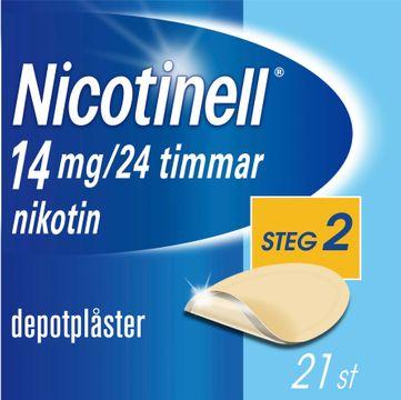 Nicotinell Depotplåster 14 mg/24 timmar, 21 st