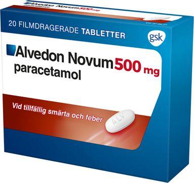 Alvedon Novum 500 mg Paracetamol, tablett, 20 st