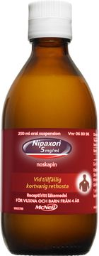 Nipaxon 5 mg/ml Noskapin, oral suspension, 250 ml