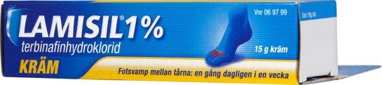 Lamisil 1% Terbinafinhydroklorid, kräm, 15 g