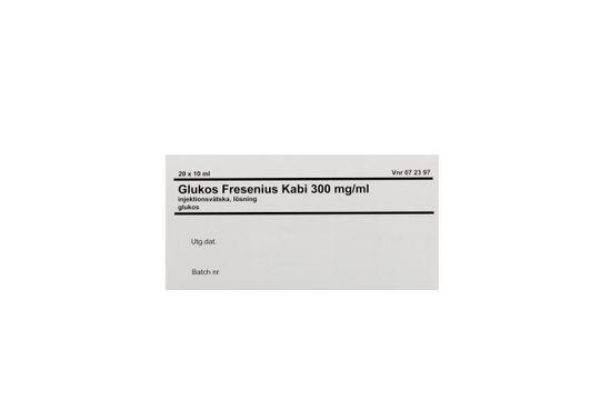 Glukos Fresenius Kabi Injektionsvätska, lösning 300 mg/ml 20 x 10 milliliter