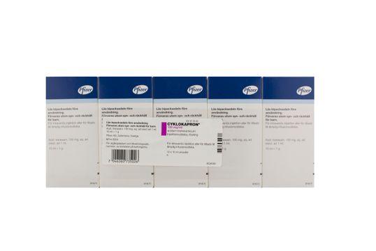 Cyklokapron Injektionsvätska, lösning 100 mg/ml Tranexamsyra 10 x 10 milliliter