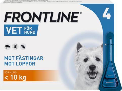 Frontline vet. 100 mg/ml Fipronil, spot-on lösning, 4x0,67 ml