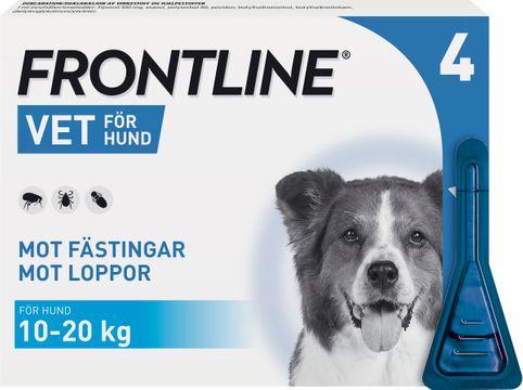 Frontline vet. 100 mg/ml Fipronil, spot-on, lösning, 4x1,34 ml