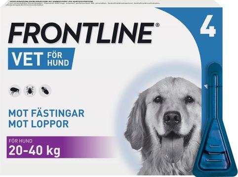 Frontline vet. 100 mg/ml Fipronil, spot-on, lösning, 4x2,68 ml