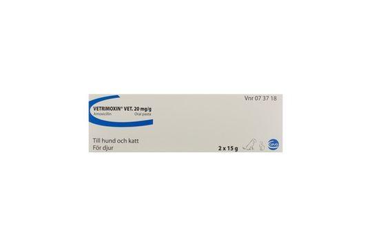 Vetrimoxin vet. Oral pasta 20 mg/g 2 x 15 gram