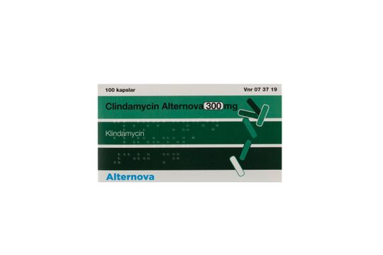 Clindamycin Alternova Kapsel, hård 300 mg Klindamycin 100 kapsel/kapslar