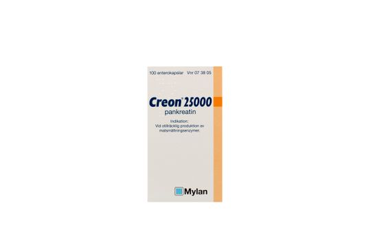 Creon 25000 Enterokapsel, hård Pankreatin 100 styck