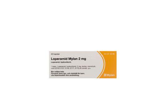 Loperamid Mylan Kapsel, hård 2 mg Loperamid 40 x 1 kapsel/kapslar