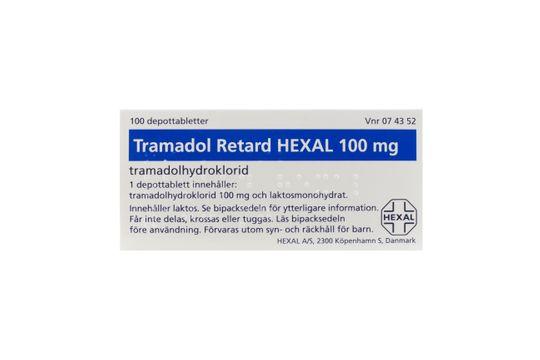 Tramadol Retard Hexal Depottablett 100 mg Tramadol 100 styck