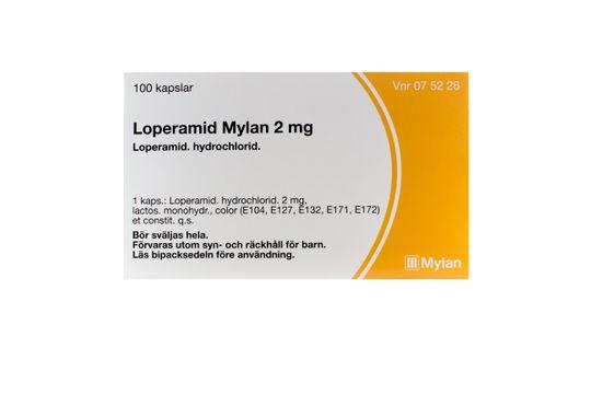 Loperamid Mylan Kapsel, hård 2 mg Loperamid 100 kapsel/kapslar