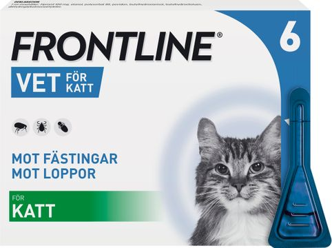 Frontline vet. 100 mg/ml Fipronil, spot-on lösning, 6x0,5 ml