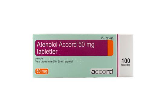 Atenolol Accord Tablett 50 mg Atenolol 100 tablett(er)
