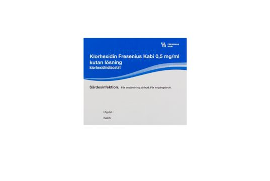 Klorhexidin Fresenius Kabi Kutan lösning 0,5 mg/ml 20 x 30 milliliter