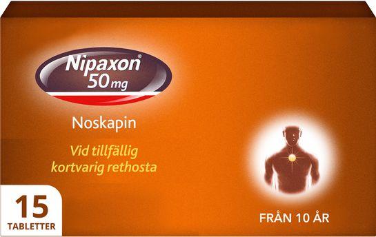 Nipaxon Mot rethosta. 50 mg  x15 tablett(er)