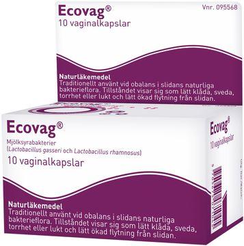 Ecovag Vaginalkapsel hård, 10 st