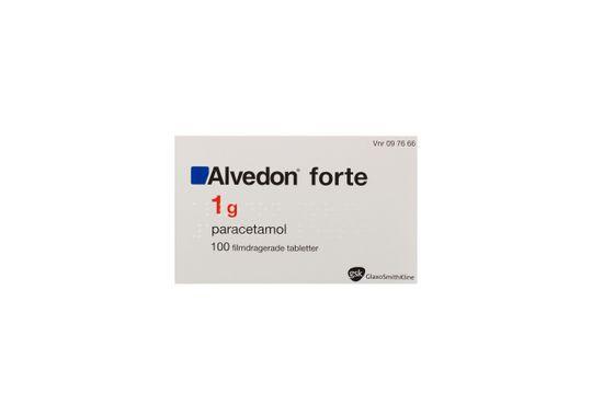 Alvedon forte Filmdragerad tablett 1 g Paracetamol 100 x 1 styck