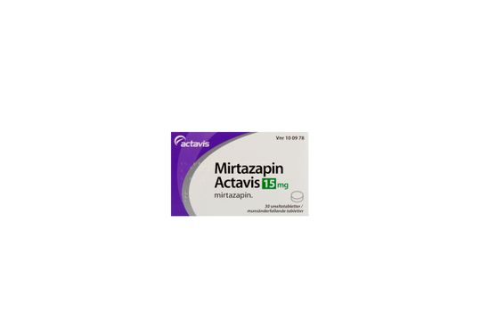 Mirtazapin Actavis Munsönderfallande tablett 15 mg Mirtazapin 30 tablett(er)