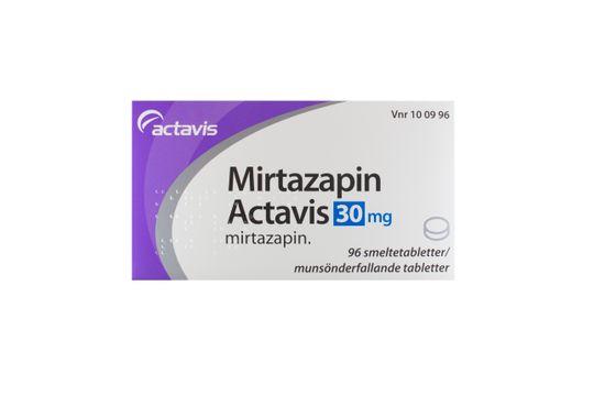 Mirtazapin Actavis Munsönderfallande tablett 30 mg Mirtazapin 96 tablett(er)