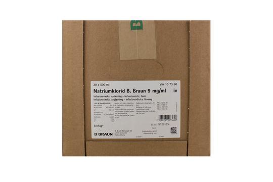 Natriumklorid B. Braun Infusionsvätska, lösning 9 mg/ml Natriumklorid 20 x 500 milliliter