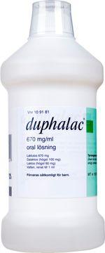 Duphalac Oral lösning 670 mg/ml Laktulos 1000 milliliter