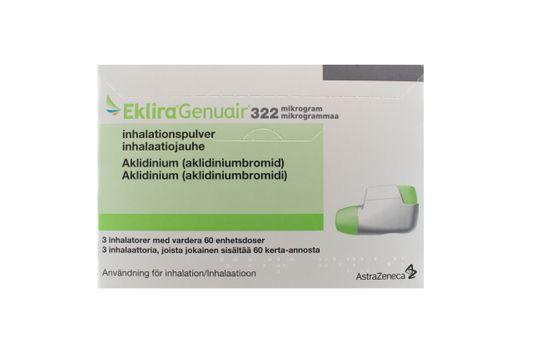 Eklira Genuair Inhalationspulver 322 mikrogram Aklidinium 3 x 60 dos(er)