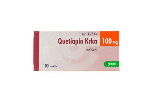 Quetiapin Krka Filmdragerad tablett 100 mg Kvetiapin 100 tablett(er)