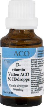 D-vitamin Vatten ACO Orala droppar, lösning 80 IE/droppe 25 milliliter