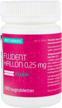 Fludent Hallon Sugtablett 0,25 mg 200 styck