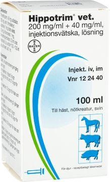 Hippotrim vet. Injektionsvätska, lösning 200 mg/ml + 40 mg/ml 100 milliliter