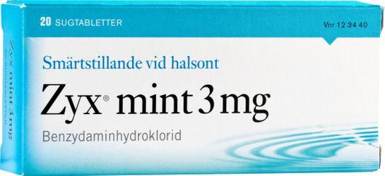 Zyx mint 3 mg Benzydaminhydroklorid, sugtablett, 20 st