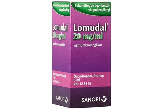 Lomudal 20 mg/ml Natriumkromoglikat, ögondroppar, 5 ml