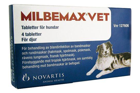 Milbemax vet. för hundar Tablett 4 styck