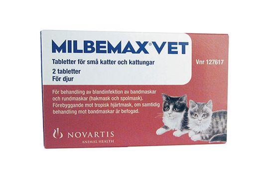 Milbemax vet. för små katter och kattungar Milbemycinoxim/Prazikvantel, filmdragerad tablett, 2 st