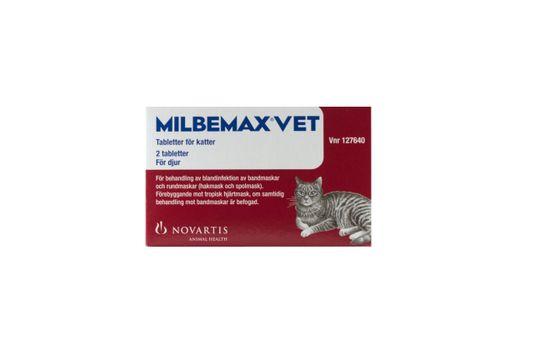 Milbemax vet. för katter Milbemycinoxim/Prazikvantel, filmdragerad tablett, 2 st