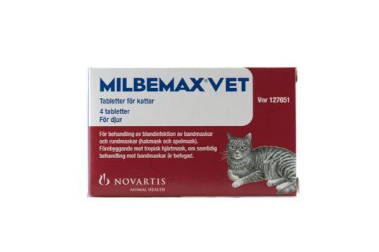 Milbemax vet. för katter Milbemycinoxim/Prazikvantel, filmdragerad tablett, 4 st