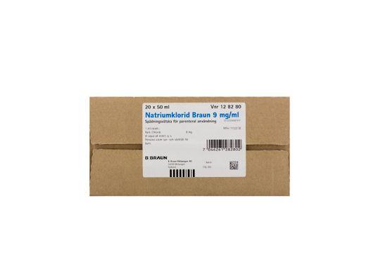Natriumklorid Braun Spädningsvätska för parenteral användning 9 mg/ml Natriumklorid 20 x 50 milliliter
