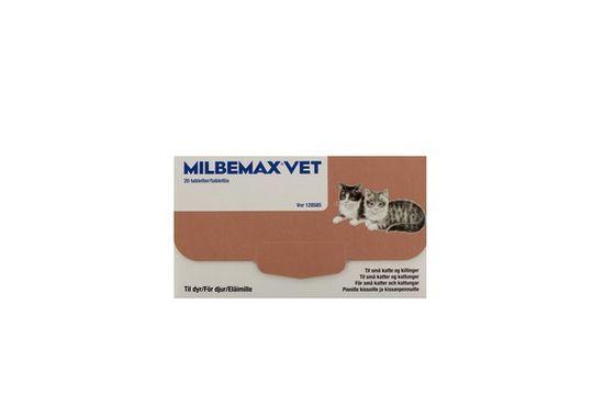 Milbemax vet. för små katter och kattungar Filmdragerad tablett 20 styck