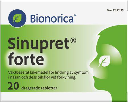 Bionorica Sinupret forte För lindring av symtom vid förkylning. 20 st