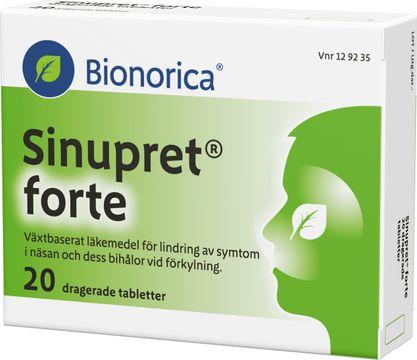 Bionorica Sinupret forte Växtbaserat läkemedel, tablett, 20 st