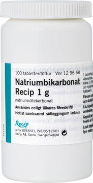 Natriumbikarbonat Meda Tablett 1 g 100 styck