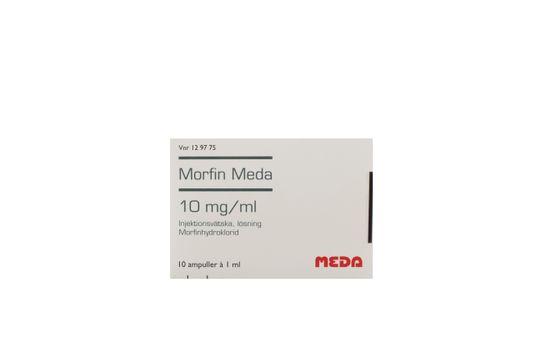 Morfin Meda Injektionsvätska, lösning 10 mg/ml 10 x 1 milliliter