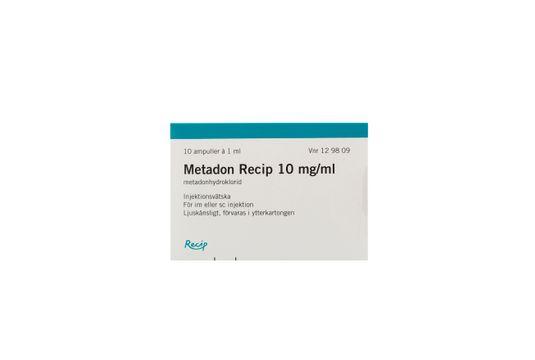 Metadon Meda Injektionsvätska, lösning 10 mg/ml 10 x 1 milliliter