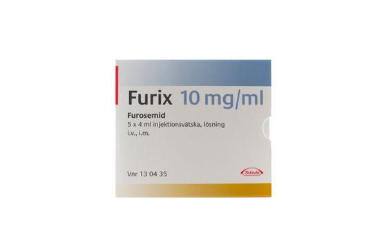 Furix Injektionsvätska, lösning 10 mg/ml Furosemid 5 x 4 milliliter