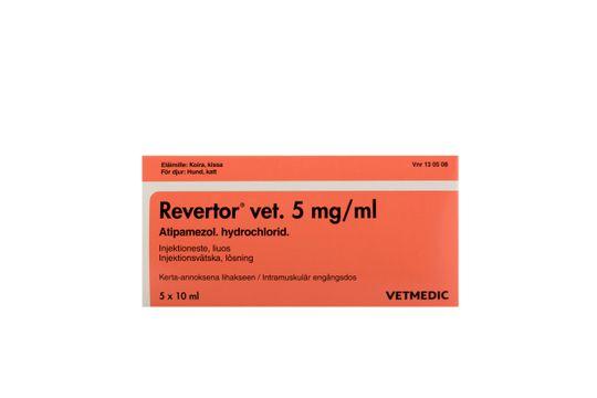 Revertor vet Injektionsvätska, lösning 5 mg/ml 5 x 10 milliliter