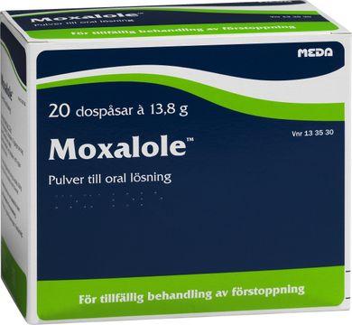 Moxalole Pulver till oral lösning i dospåse Makrogol, kaliumklorid, natriumbikarbonat, natriumklorid 20 styck