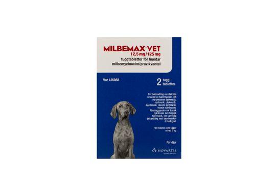 Milbemax vet. Tuggtablett 12,5 mg/125 mg 2 styck